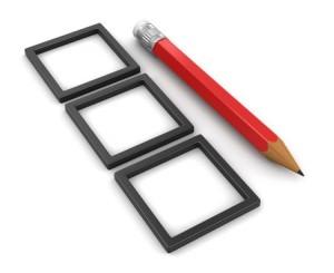 Pencil and Checklist