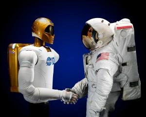 Astronaut Handshake