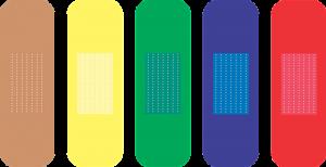 Coloured Bandages